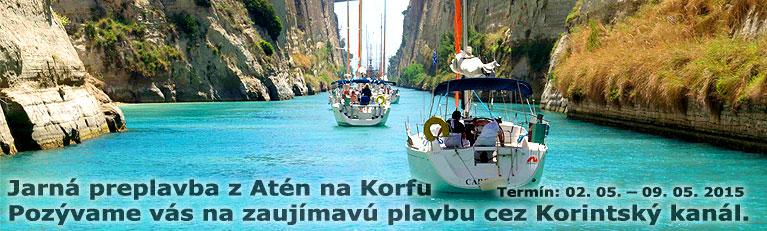 Preplavba - z At�n na Korfu cez Korintsk� kan�l